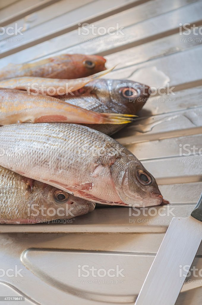 Cleaning fish series 01 royalty-free stock photo