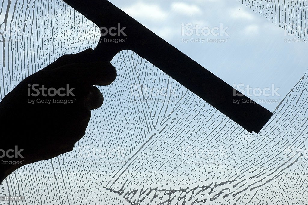 Cleaning Glass stock photo