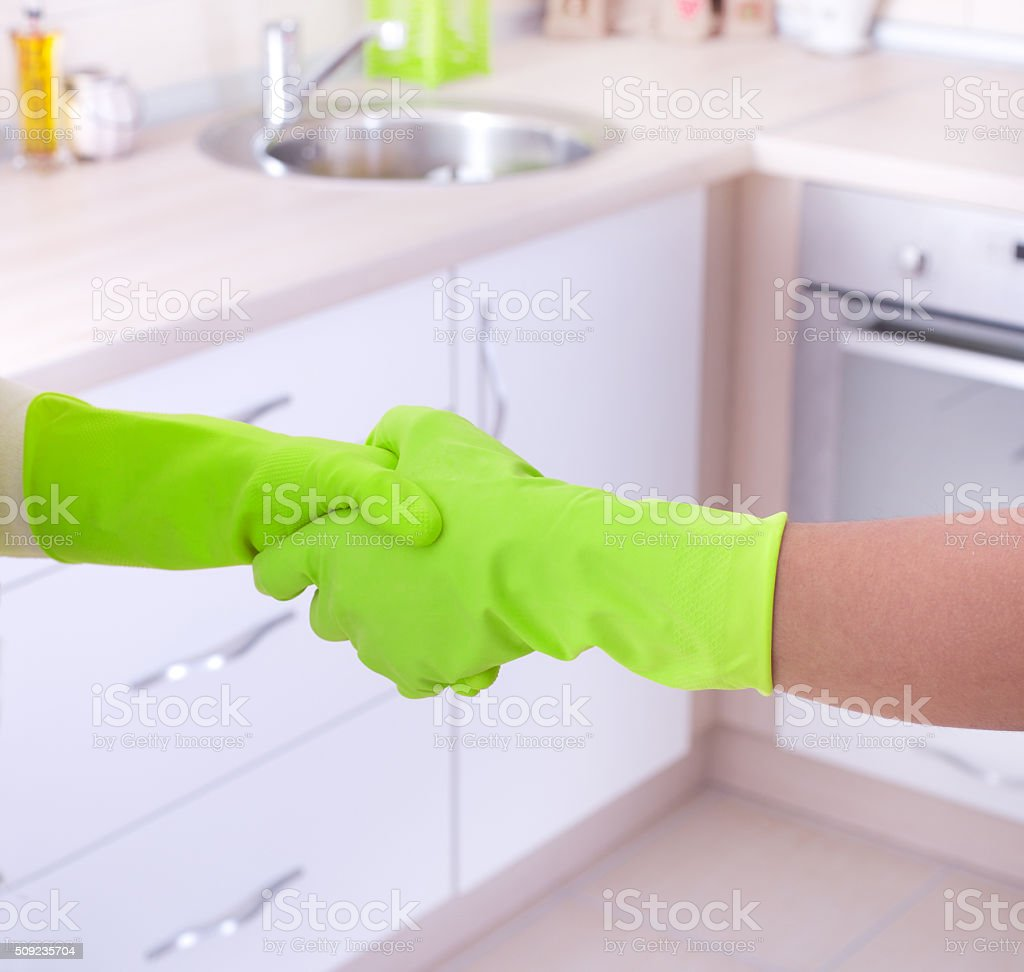Cleaning house concept stock photo