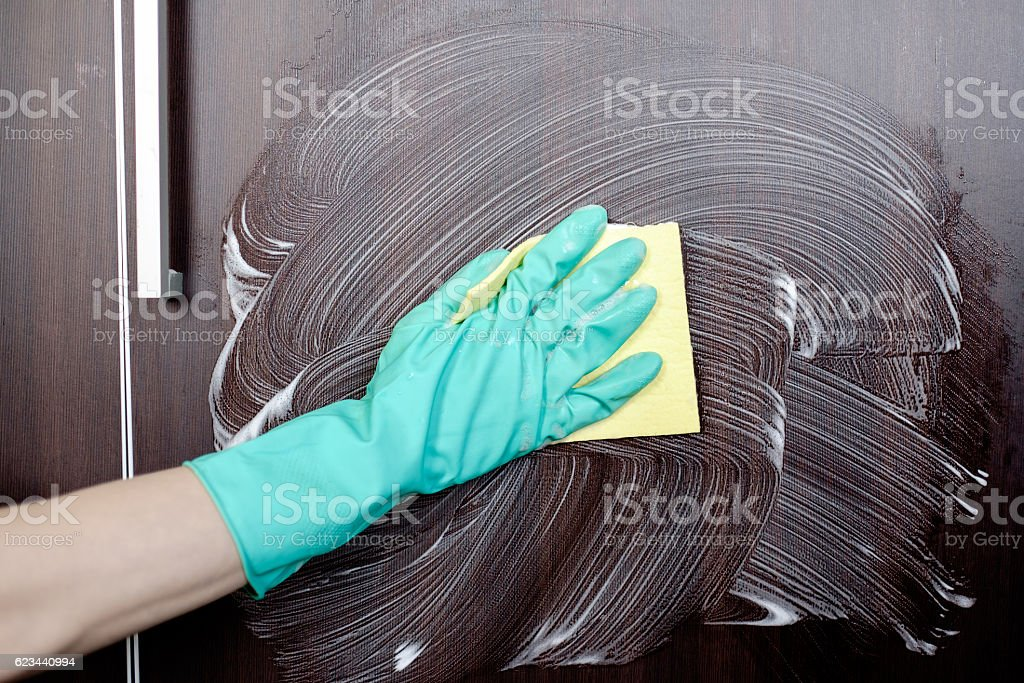 Cleaning house furniture stock photo