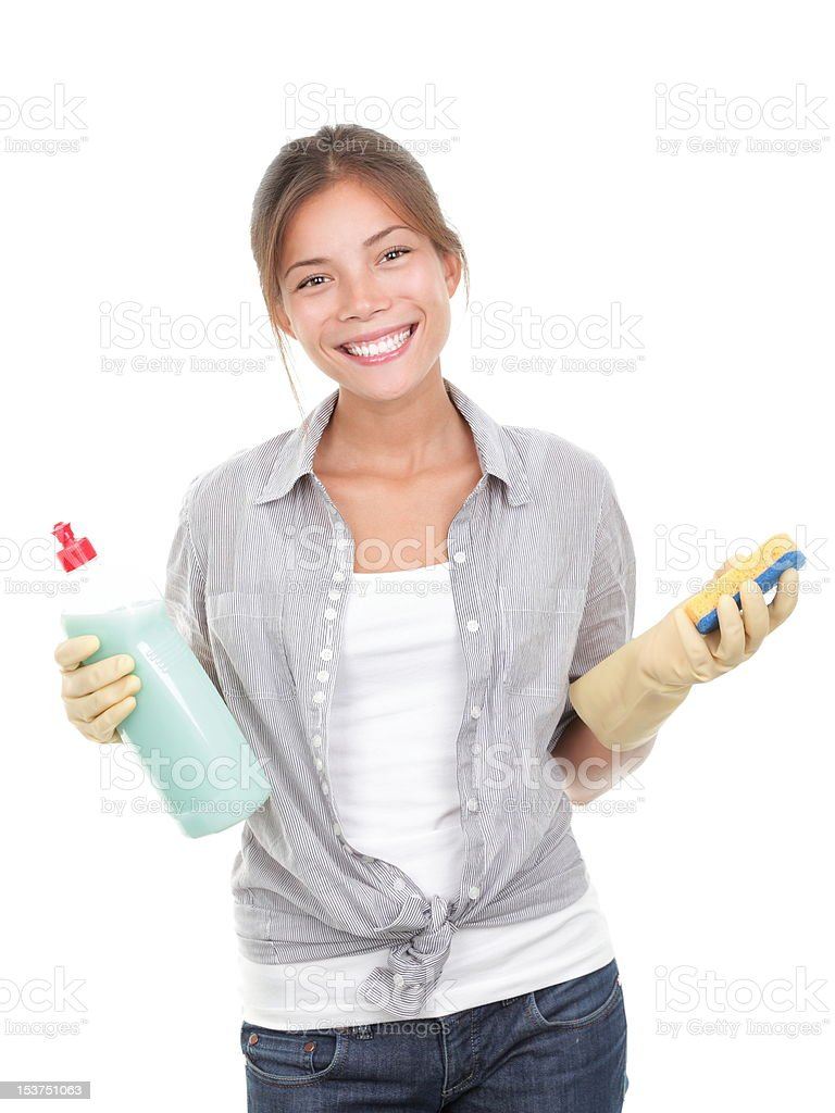 Cleaning house woman royalty-free stock photo