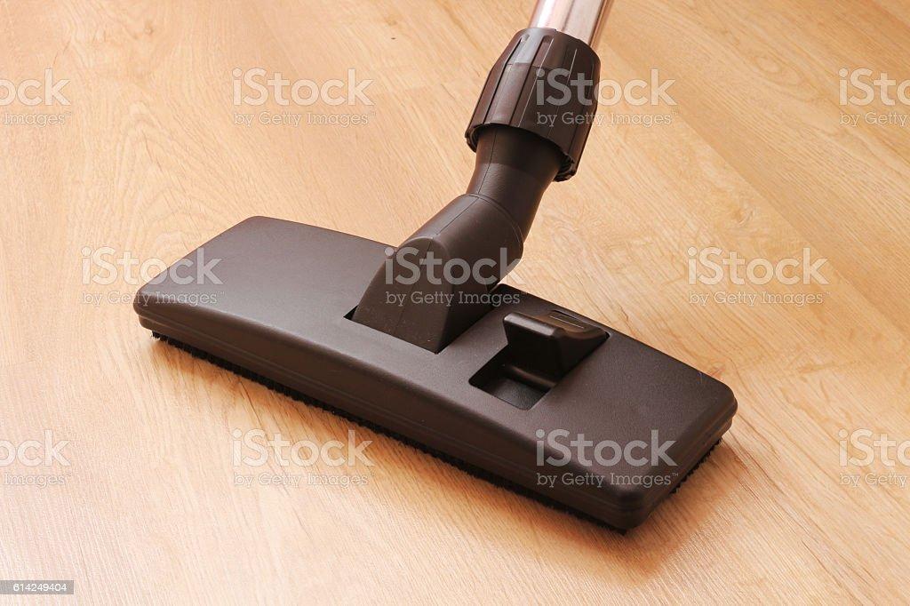 cleaning laminate floor vacuum cleaner universal nozzle stock photo