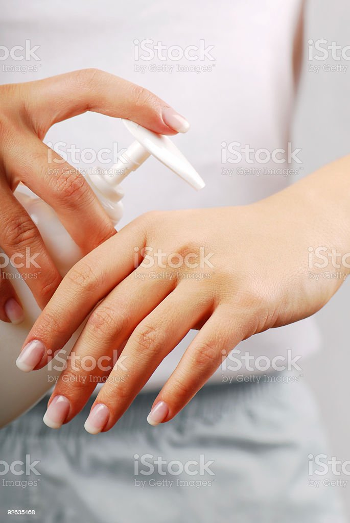 Cleaning -  liquid soap royalty-free stock photo