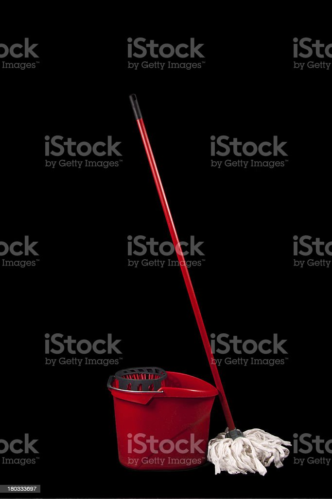Cleaning mop isolated stock photo