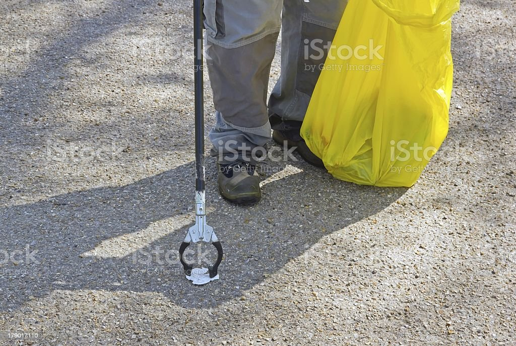 cleaning of the street royalty-free stock photo