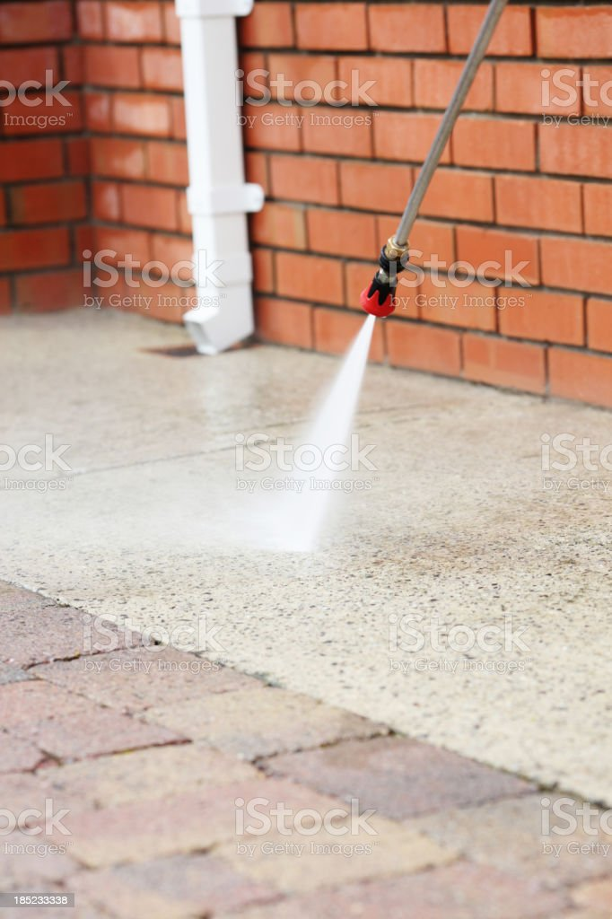 Cleaning path way with power pressure system royalty-free stock photo