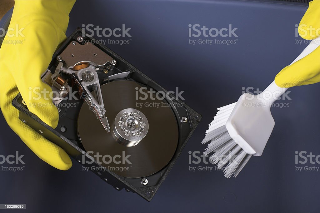 HD Cleaning royalty-free stock photo