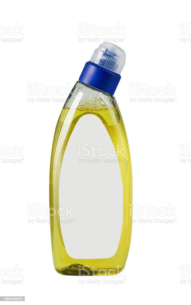 Cleaning product bottle with blank label stock photo