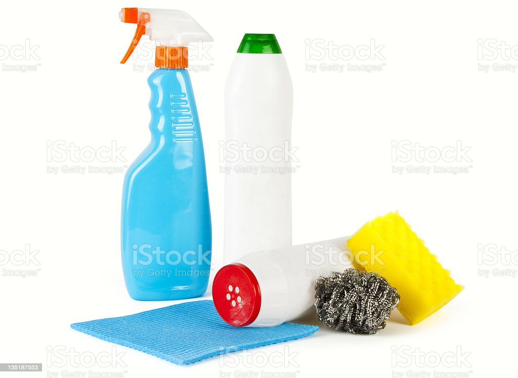 Cleaning products royalty-free stock photo