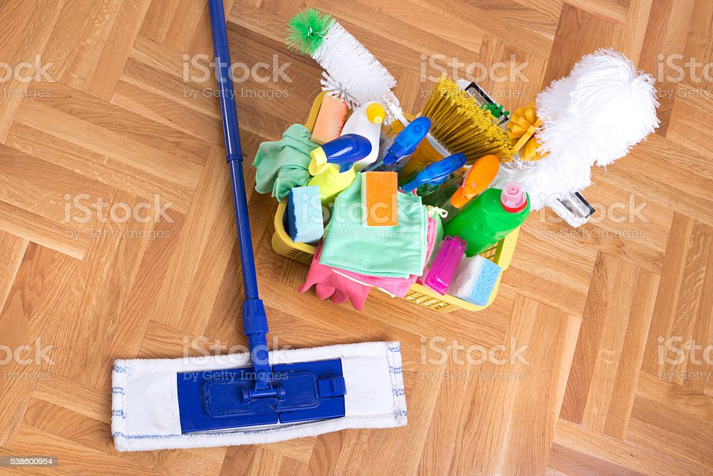 Cleaning service concept stock photo