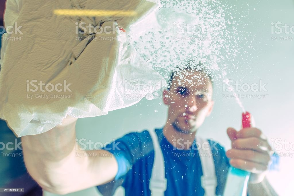 Cleaning Service Worker stock photo