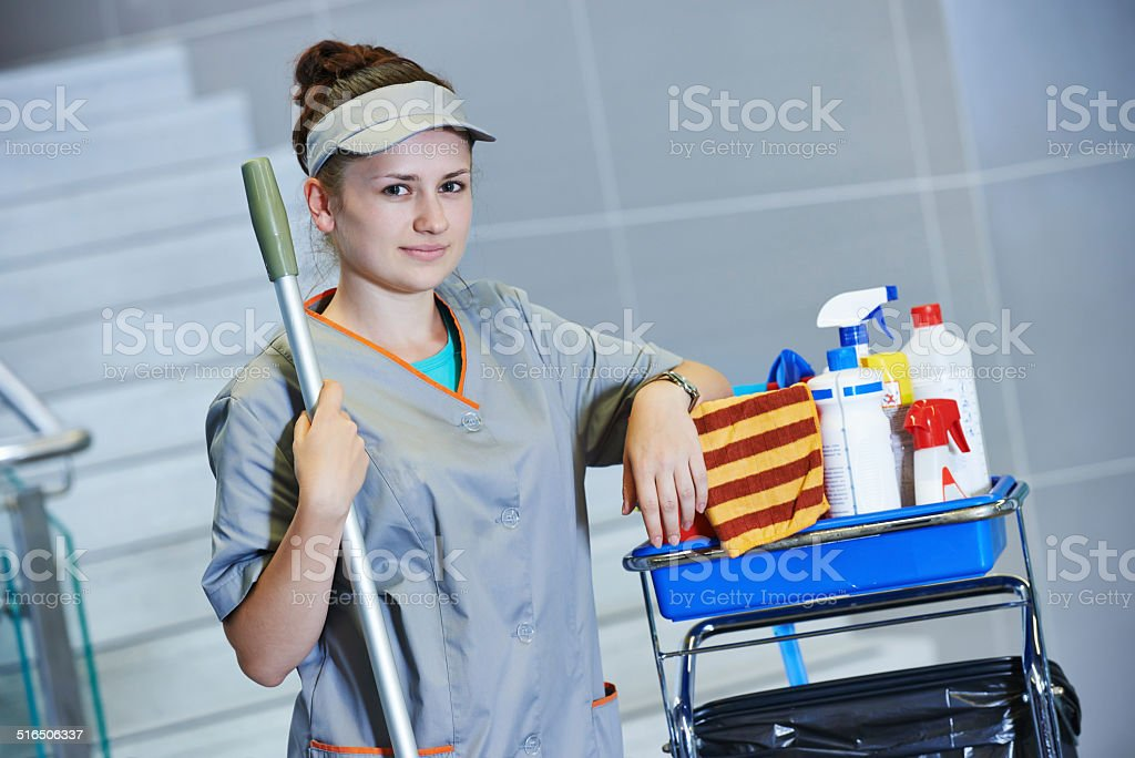 cleaning services stock photo