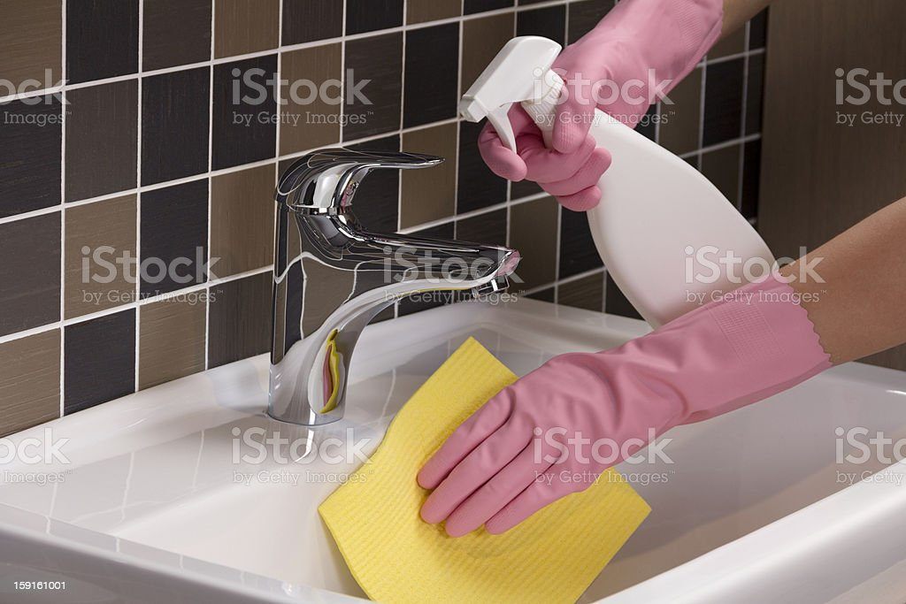 Cleaning Sink royalty-free stock photo