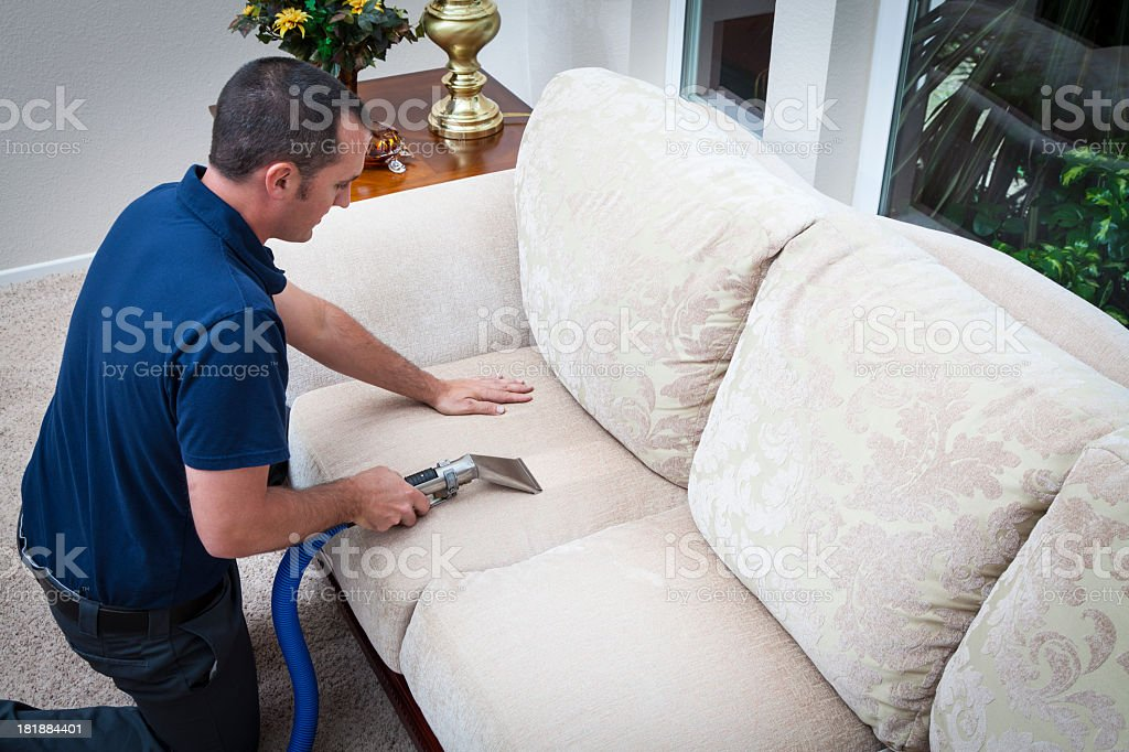 Cleaning Sofa Pillow royalty-free stock photo
