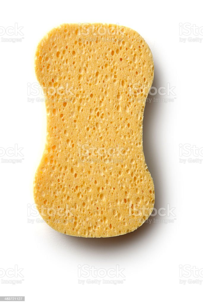Cleaning: Sponge Isolated on White Background royalty-free stock photo