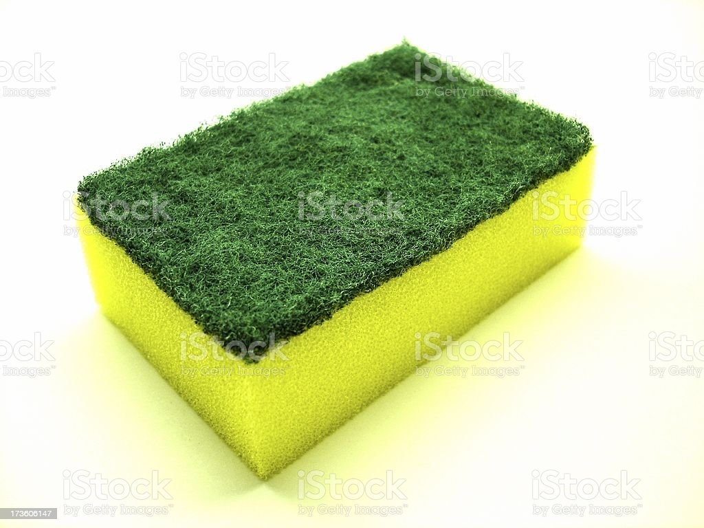Cleaning sponge royalty-free stock photo