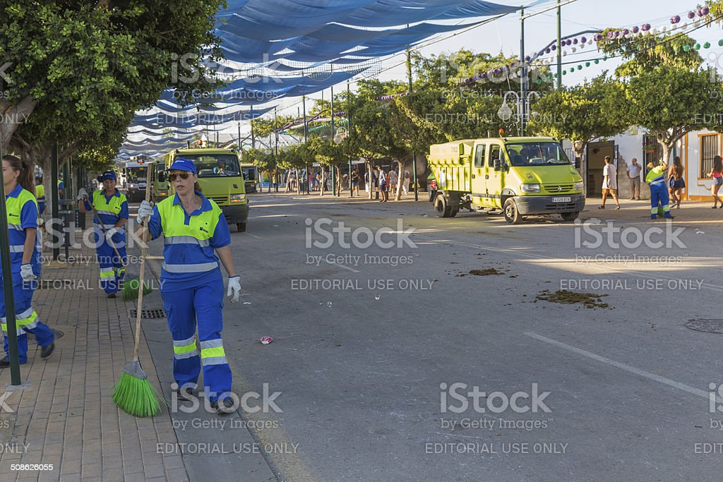 Cleaning squad royalty-free stock photo
