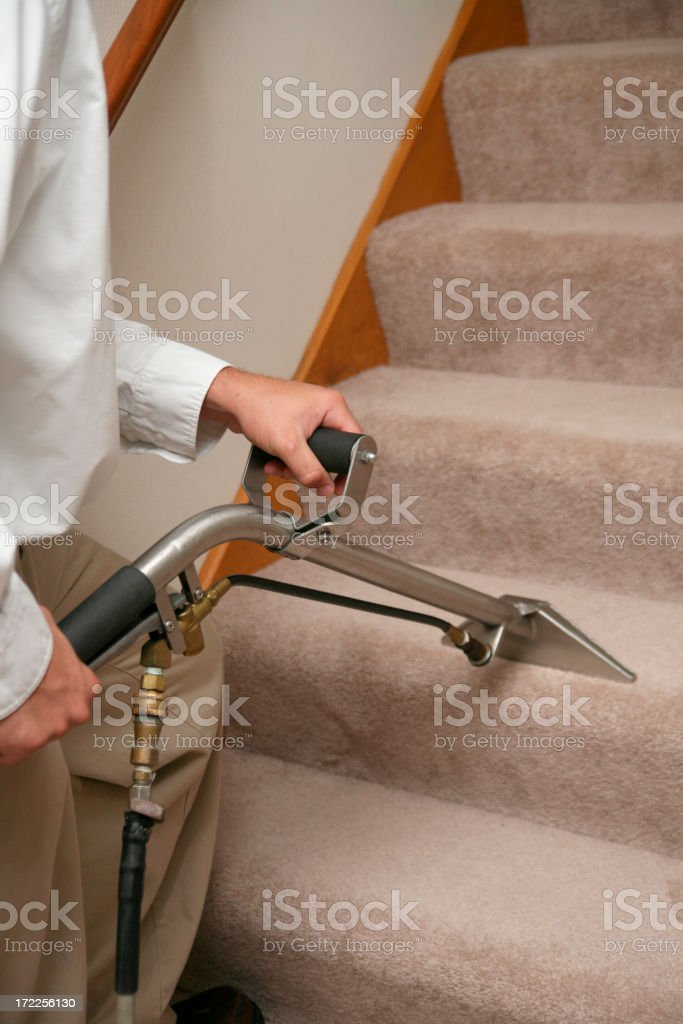 Cleaning Stairs royalty-free stock photo