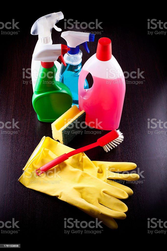 Cleaning supplies(xxxl) stock photo