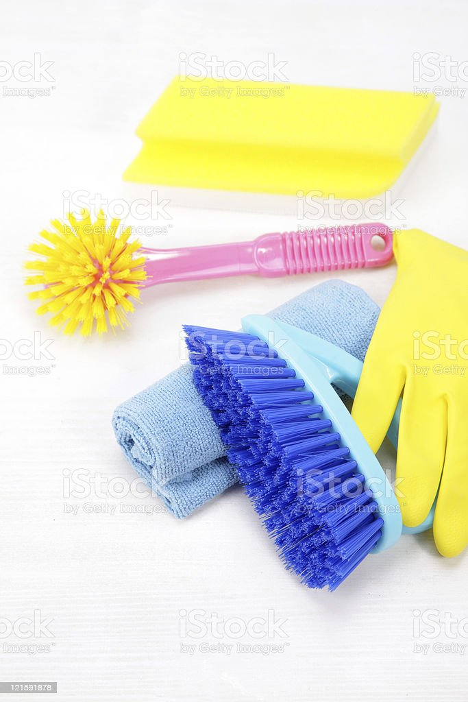 cleaning supply stock photo