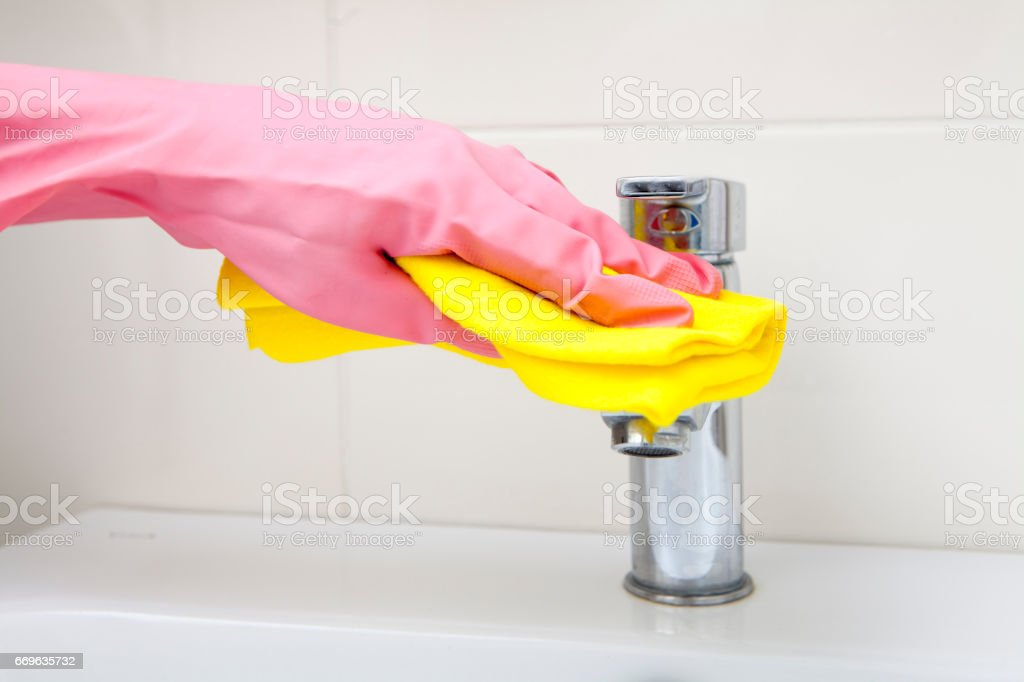Cleaning Tap stock photo