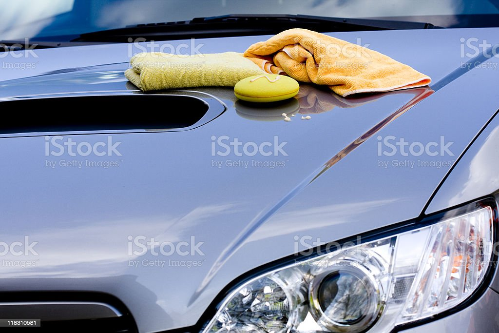 Cleaning the Car royalty-free stock photo