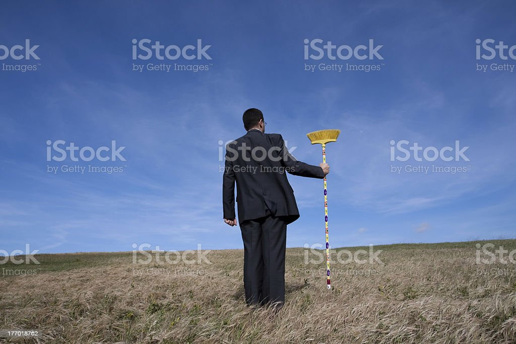 Cleaning the environment royalty-free stock photo