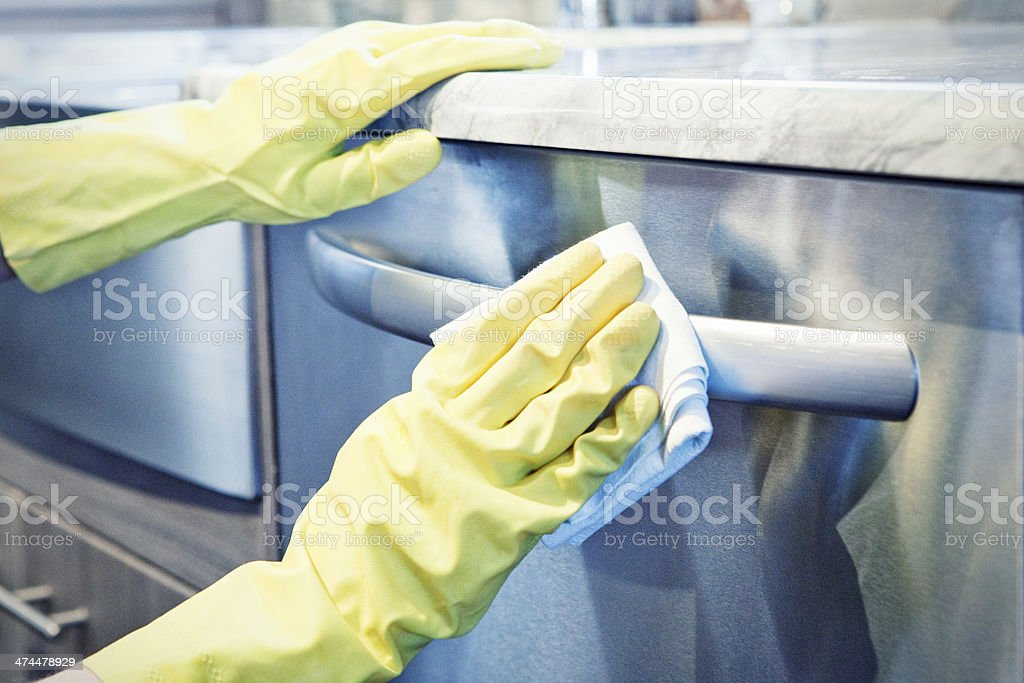 Cleaning the Kitchen royalty-free stock photo