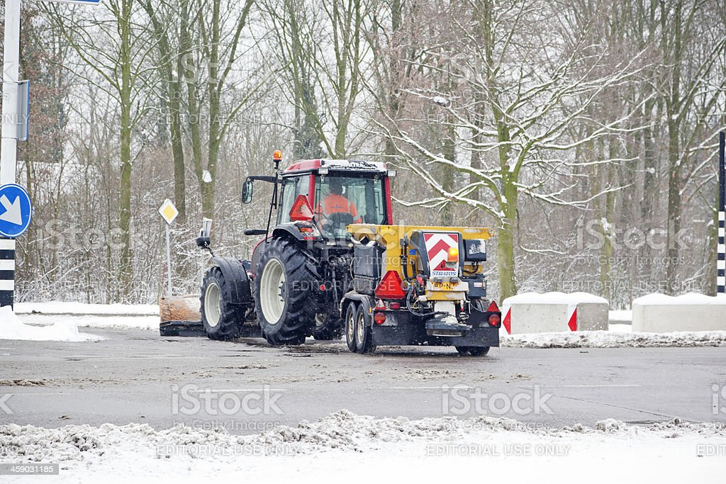 Cleaning the road # 2 XXL royalty-free stock photo
