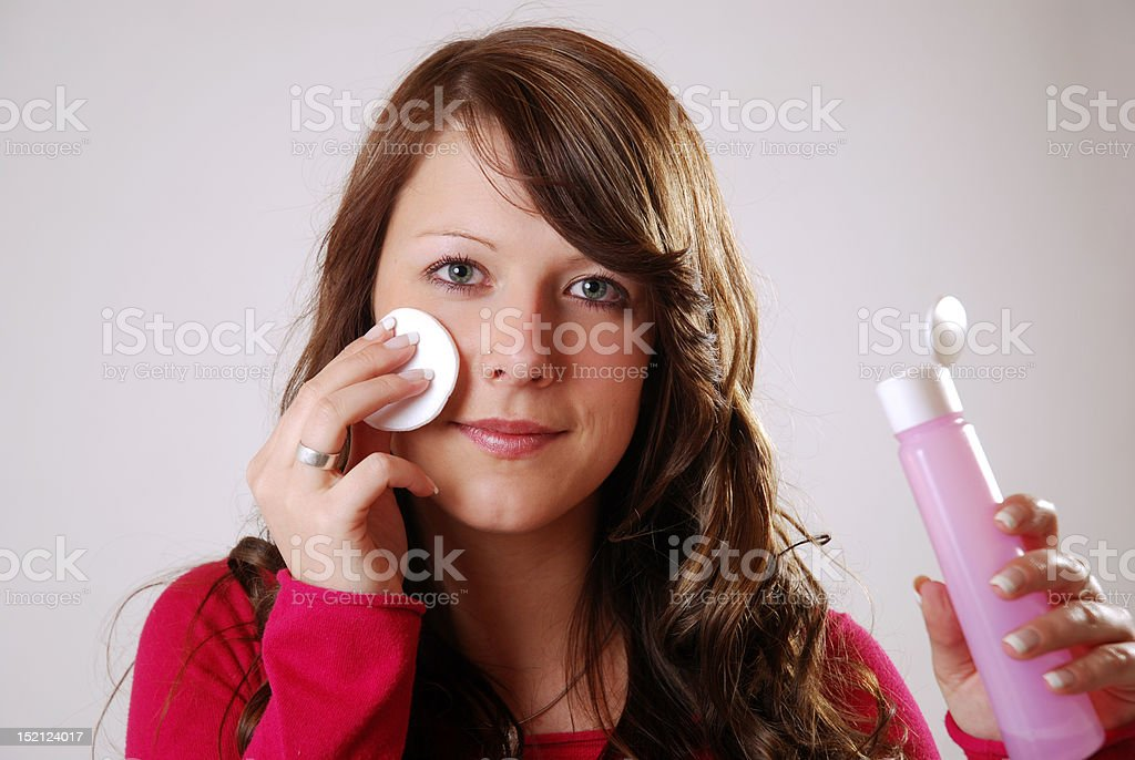cleaning the skin stock photo