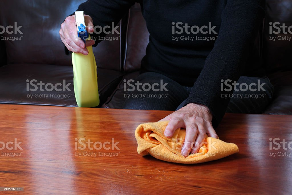 Cleaning Timber stock photo
