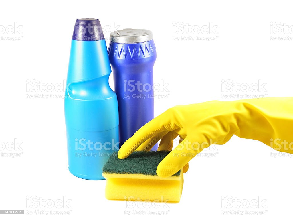 Cleaning tools stock photo