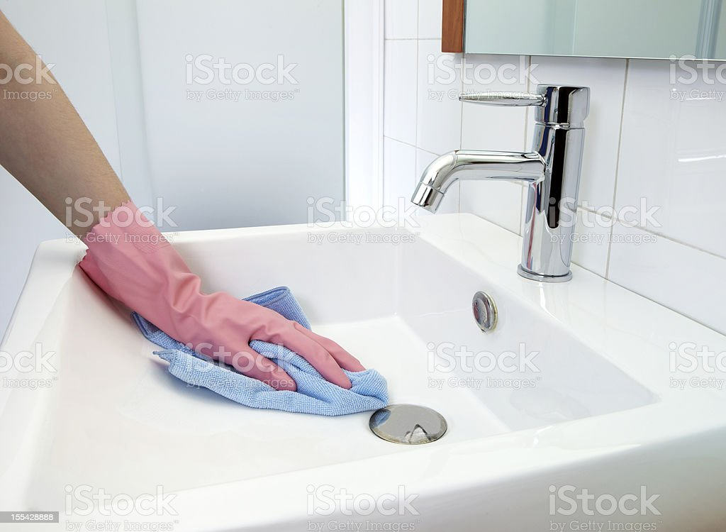 Cleaning Washbasin royalty-free stock photo