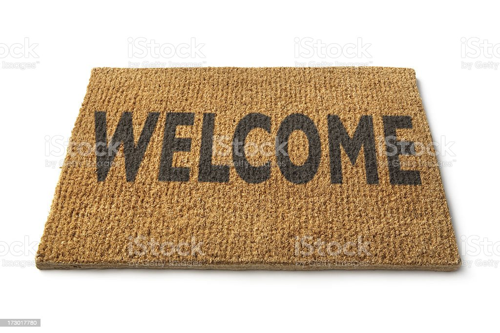 Cleaning: Welcome Mat Isolated on White Background royalty-free stock photo