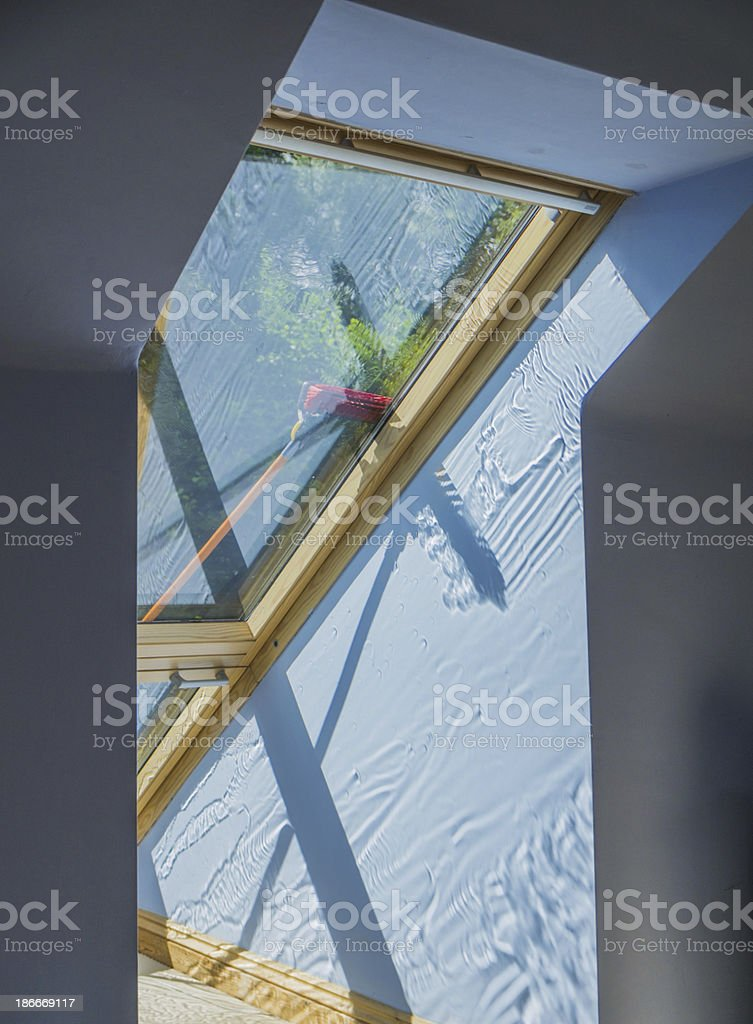 cleaning windows royalty-free stock photo