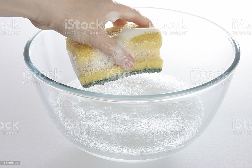 cleaning with sponge royalty-free stock photo