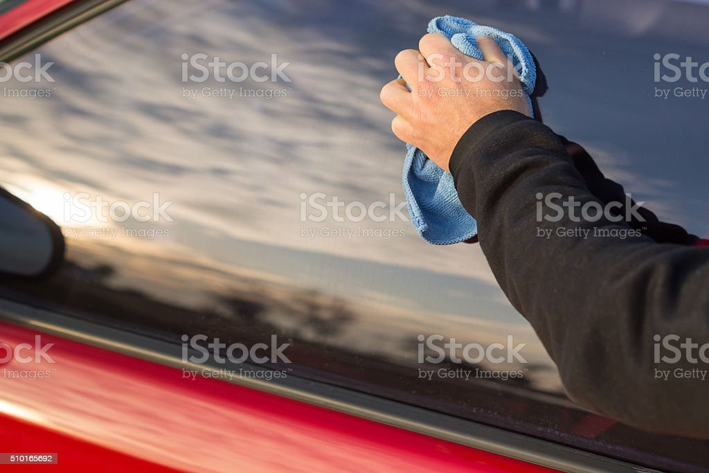Cleaning with swob stock photo