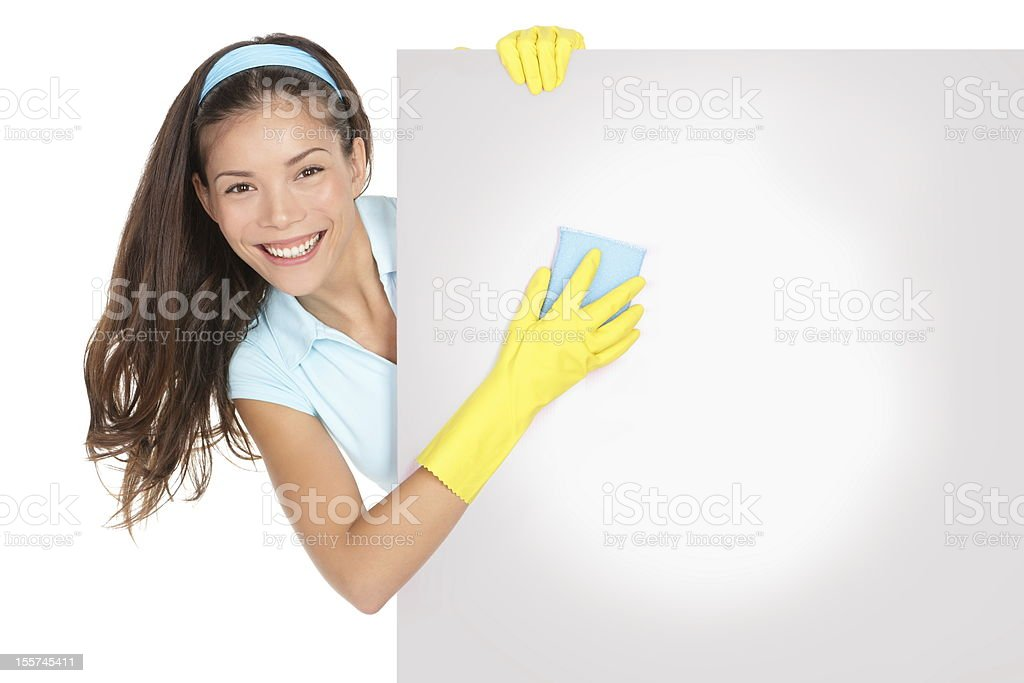 Cleaning woman sign royalty-free stock photo