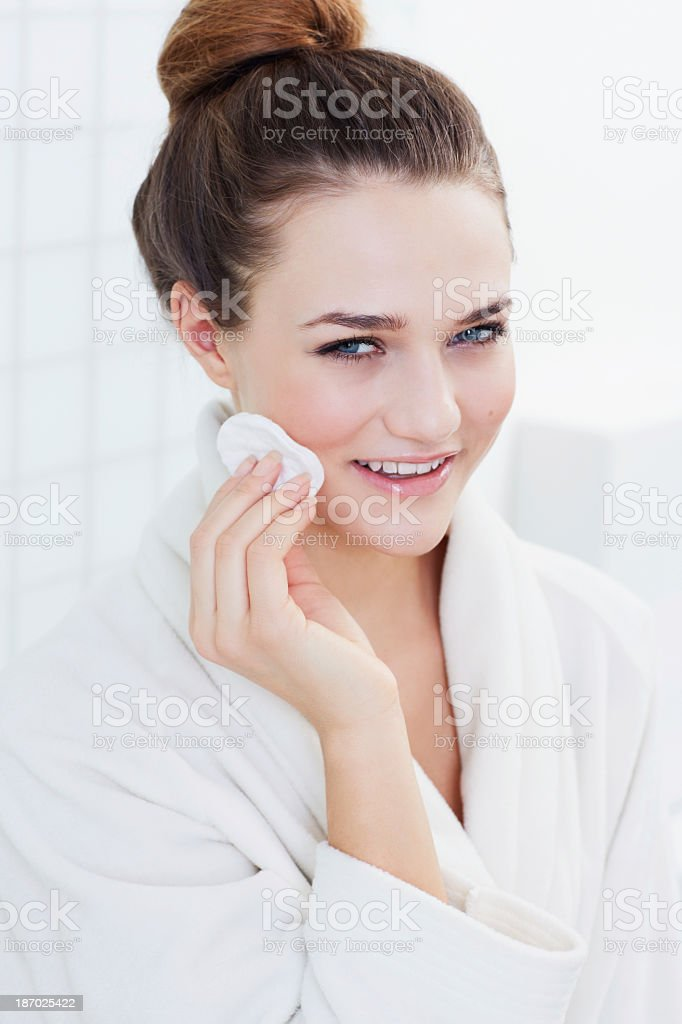 Cleanliness is the first step in skincare royalty-free stock photo