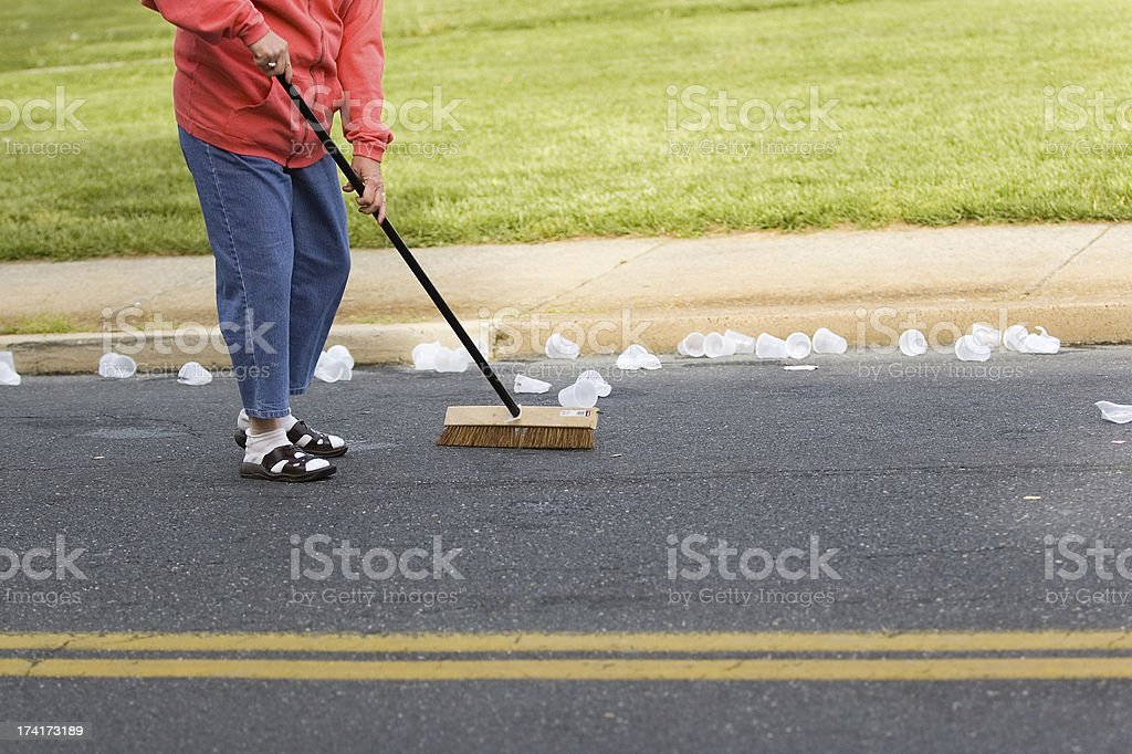 Clean-up royalty-free stock photo
