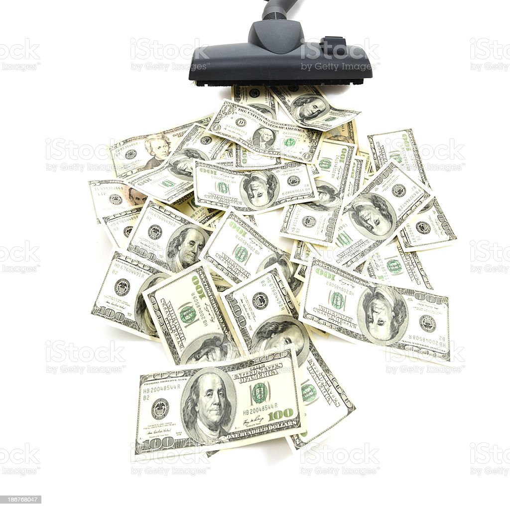 Clean-up the Money stock photo