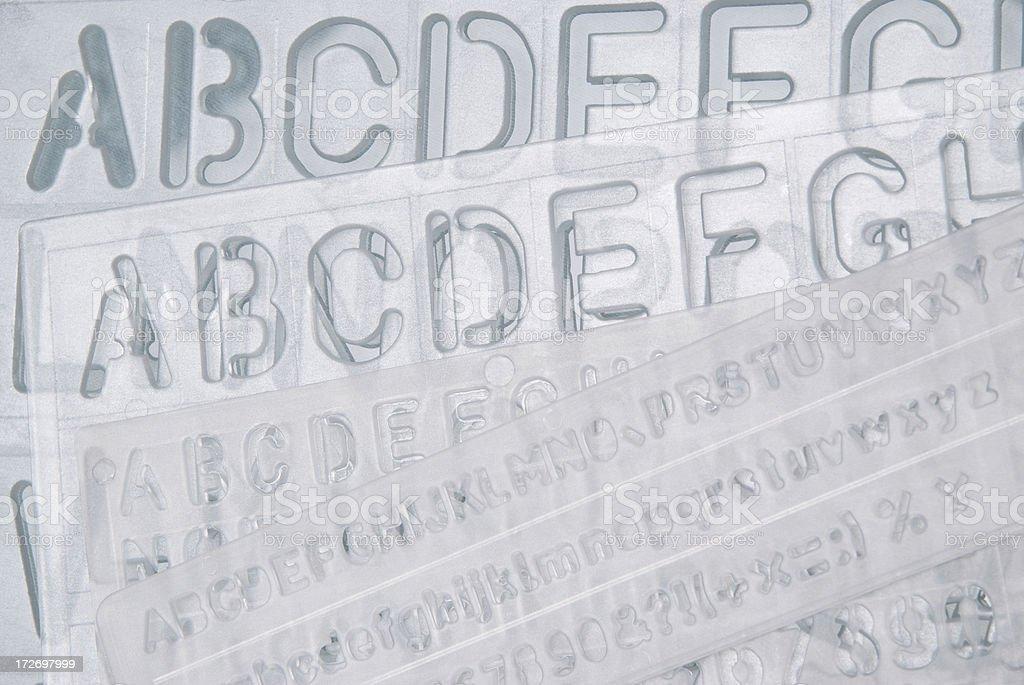 Clear Alphabet Stencil royalty-free stock photo