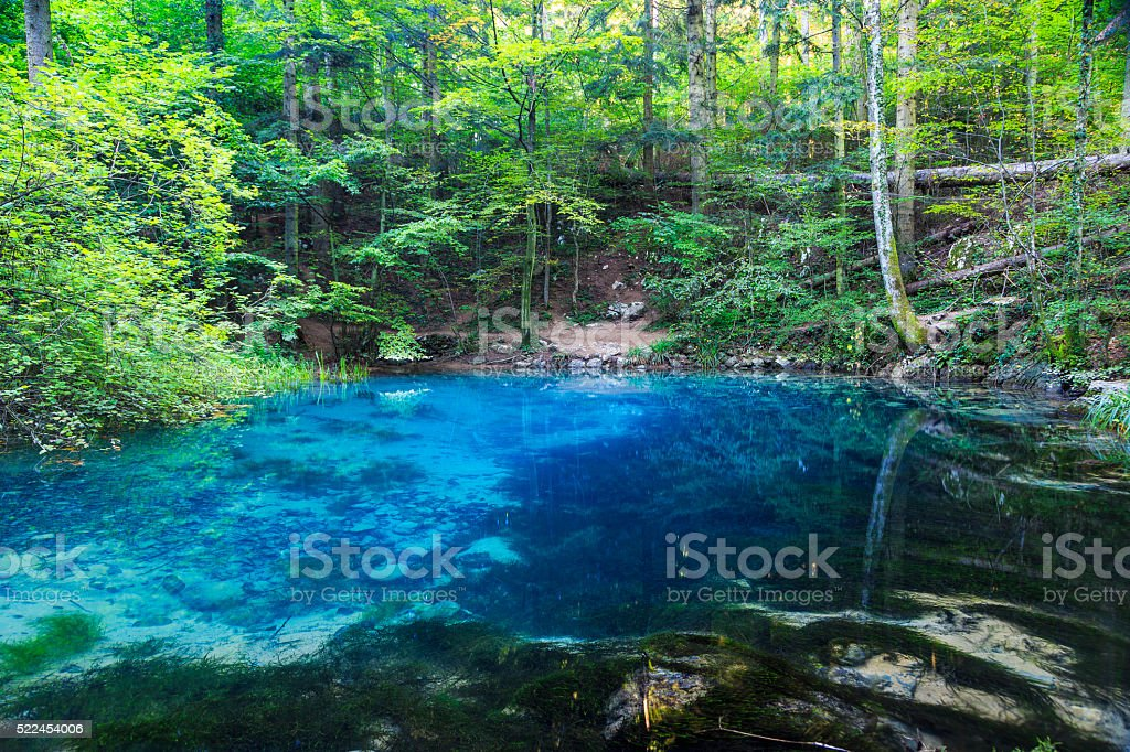 Clear and beautiful water source stock photo