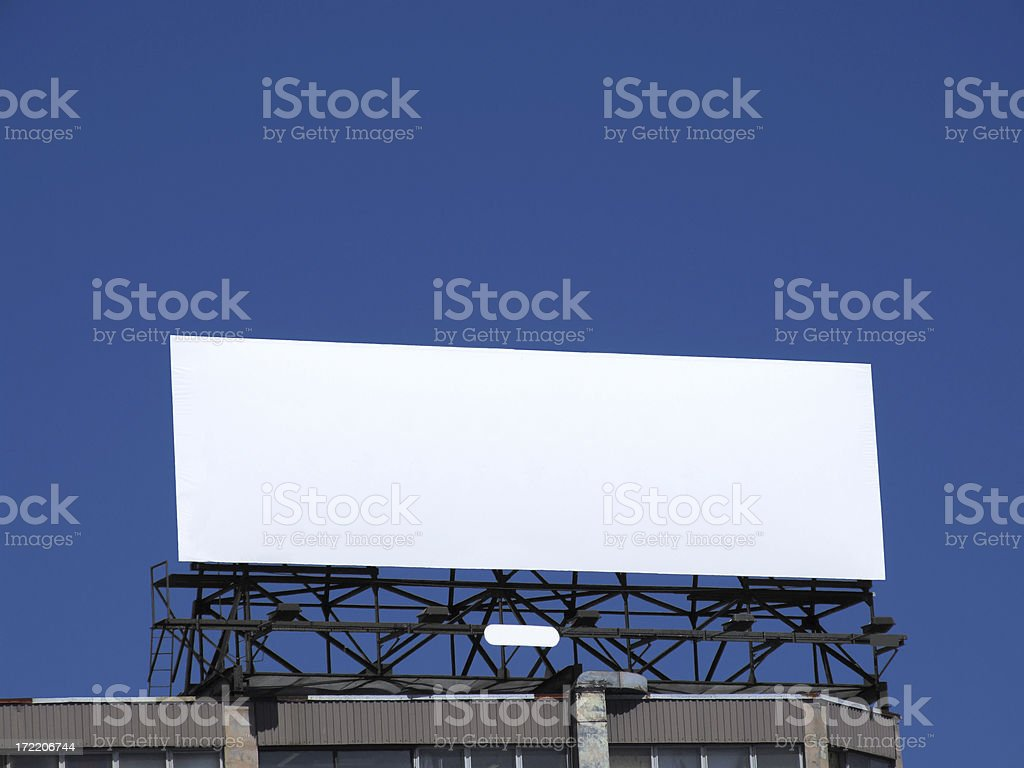 Clear Billboard royalty-free stock photo