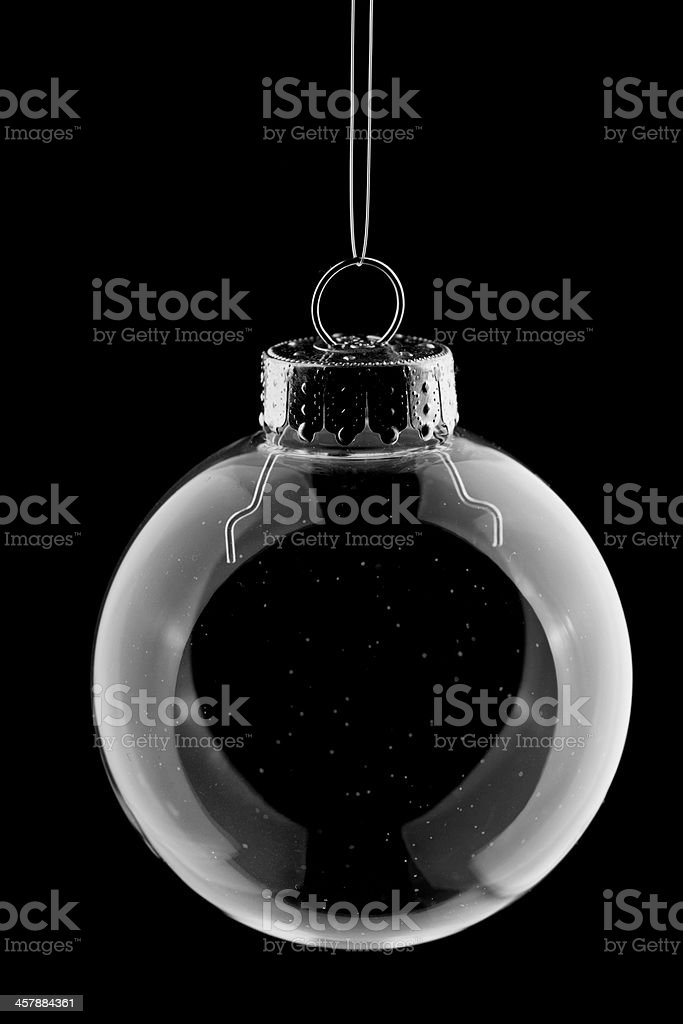 Clear Blub and Black Background stock photo