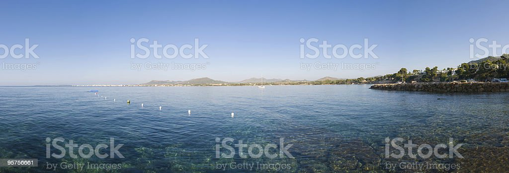 Clear blue sea stock photo