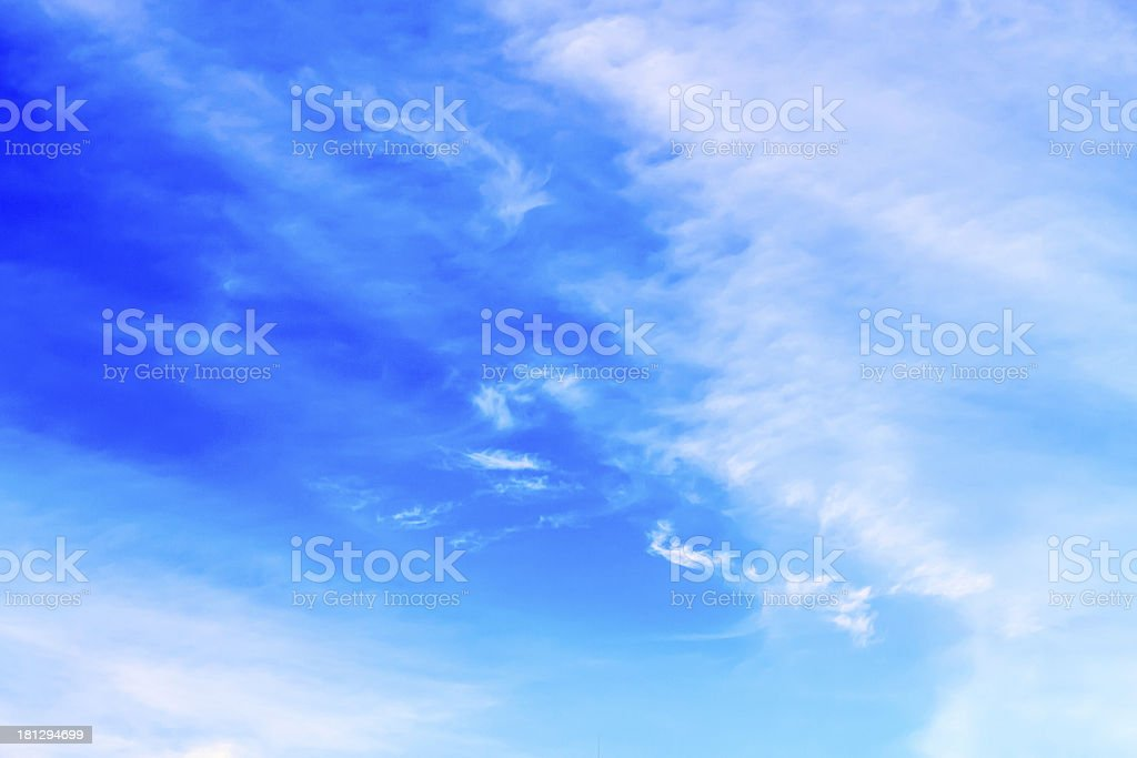 Clear blue sky background royalty-free stock photo