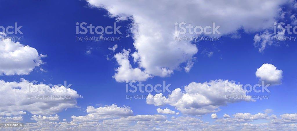 XXXL Clear Blue Sky panorama royalty-free stock photo