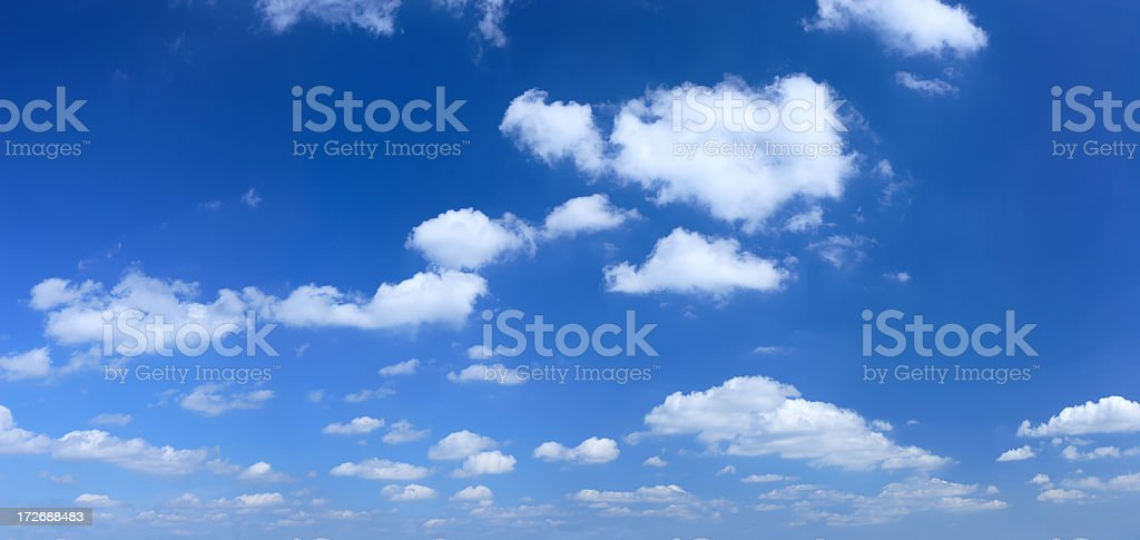 XXXL Clear Blue Sky panorama royalty-free stock photo