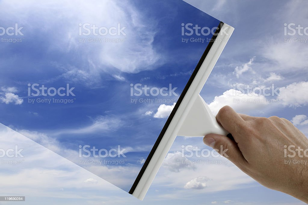 Clear blue sky royalty-free stock photo